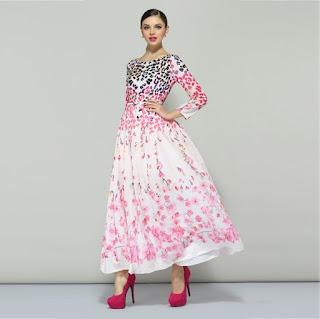 Trend busana dress wanita motif bunga masa kini