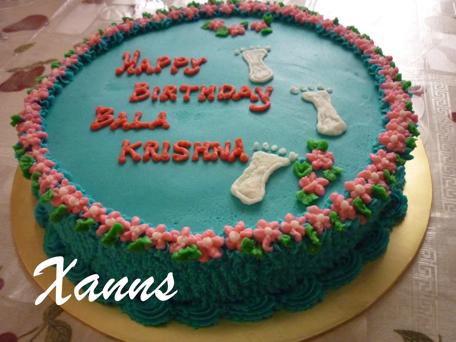 Cake Images With Name Krishna : happy birthday cake