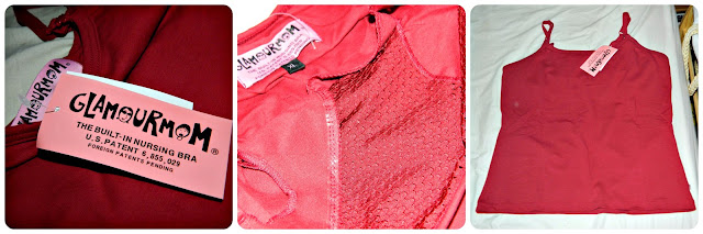 GlamourMom Nursing Vest Breastfeeding Red