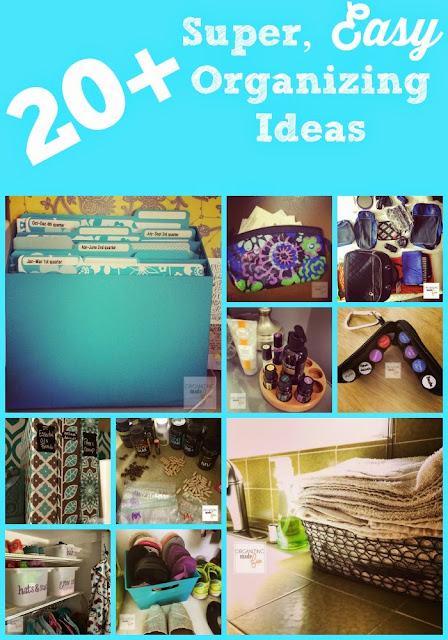20 SUPER easy organizing ideas :: OrganizingMadeFun.com