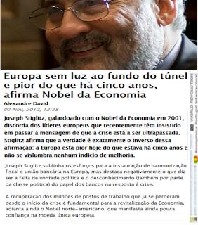 Política, Austeridade, Bancos, Crise, Económica, Europeia, Europa, Nobel, Prémio, Joseph Stiglitz, Luz, Túnel