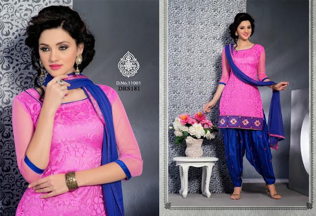 Latest Patiala Style Brasso Dress Material