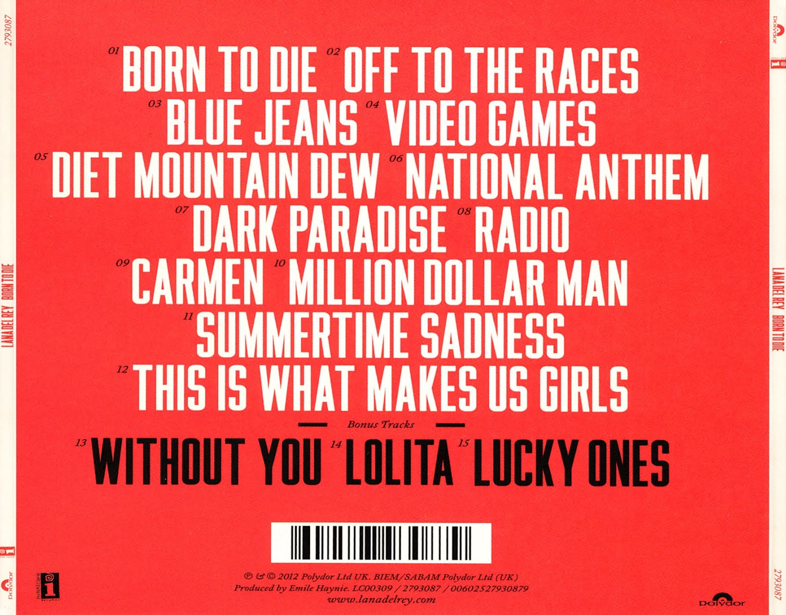 Labels  born to die free album download lana del rey mp3Born To Die Album Cover