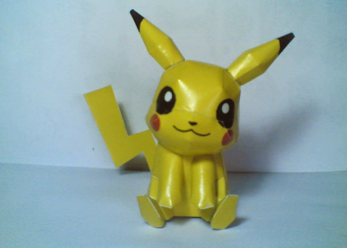 Pikachu Is One Of Pokemon And This A Icon Anime I Want To Share Simple Papercraft Just Page Very Cute Kawaaiii