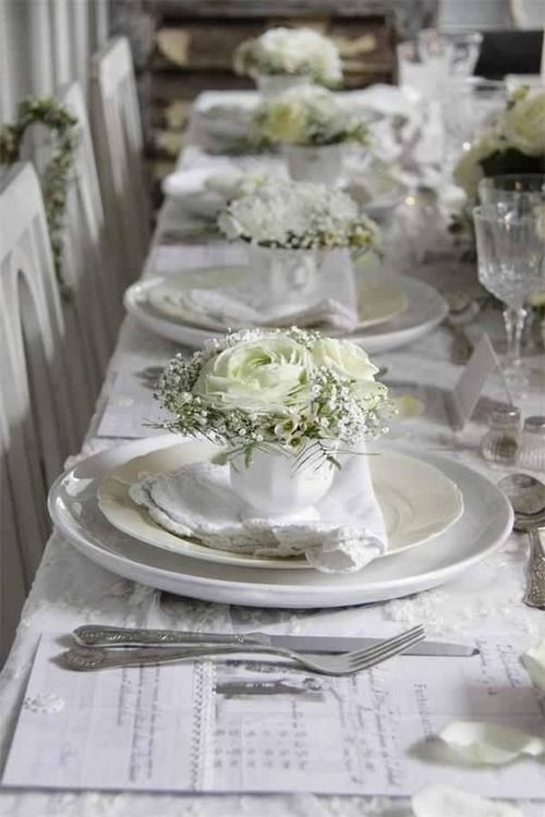 Bobka Baby And Bridal Elegant Table Settings For An