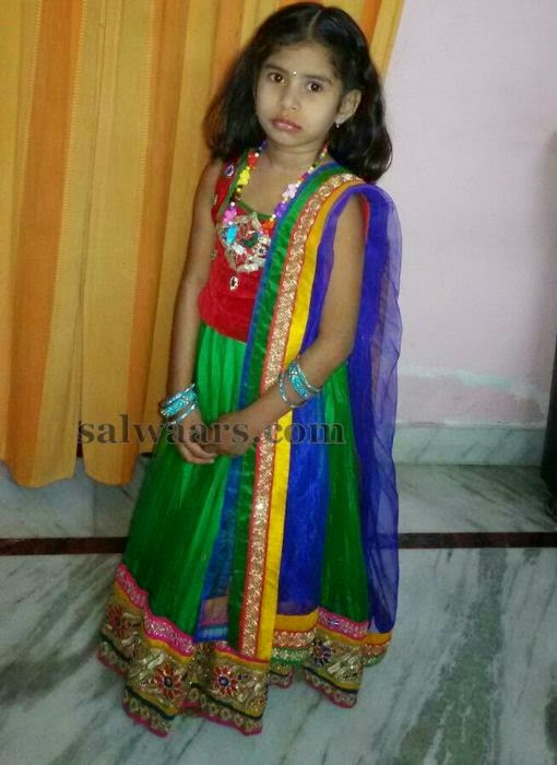Baby in Lehenga with Duppatta