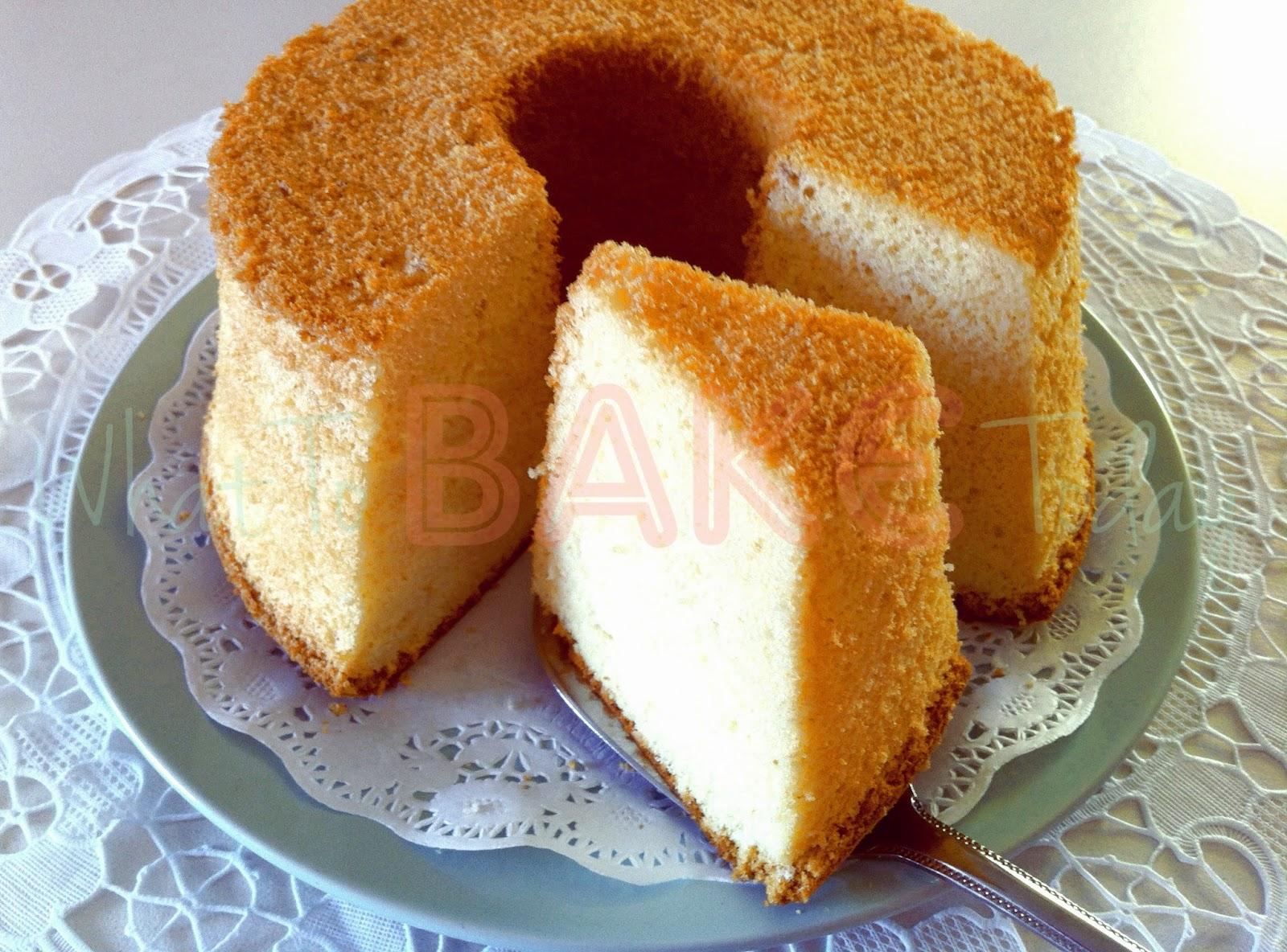 How To Bake A Chiffon Cake Using Tube Tin