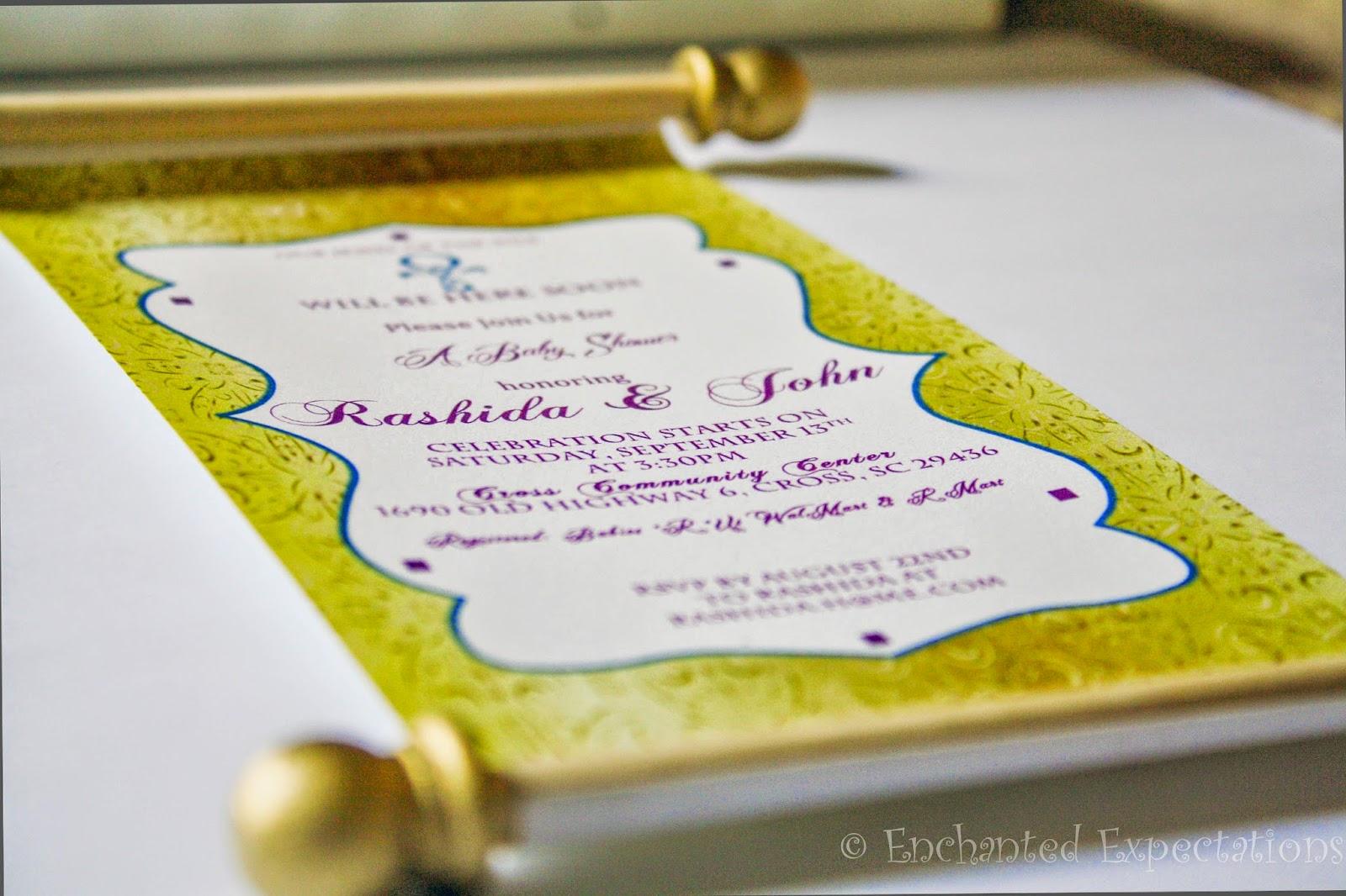 enchanted expectations egyptian invitations