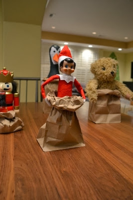 Elf On The Shelf Sack Race