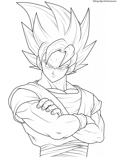 dragon ball z goku colouring pages colorings net