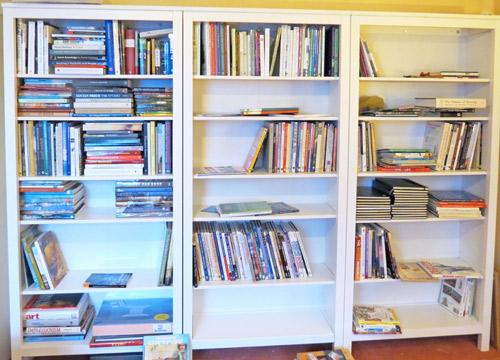 Three Ikea Hemnes Bookcases Half Full Of The Art Library