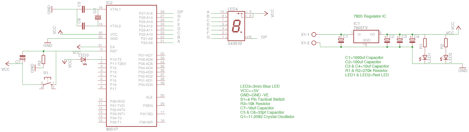 Chapter 10.3 - Interfacing 7 Segment(Common Anode) LED Display with ...