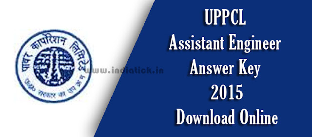 UPPCL AE Answer Key 2015 Uttar Pradesh Power Corporation Limited Assistant Engineer Solved Question Paper / Solutions Download PDF at www.uppcl.org
