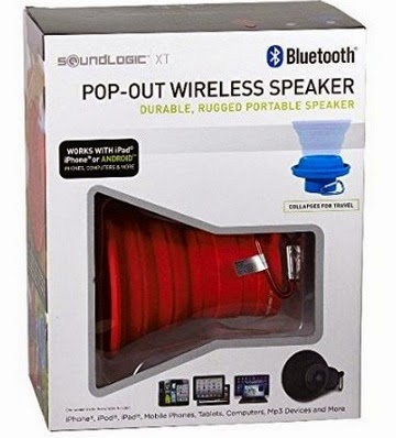 Soundlogic Collapsible BT Bluetooth wireless cone speaker BK