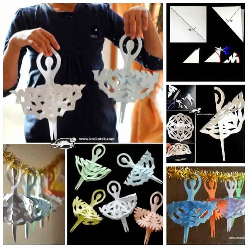 DIY Snowflake Ballerinas