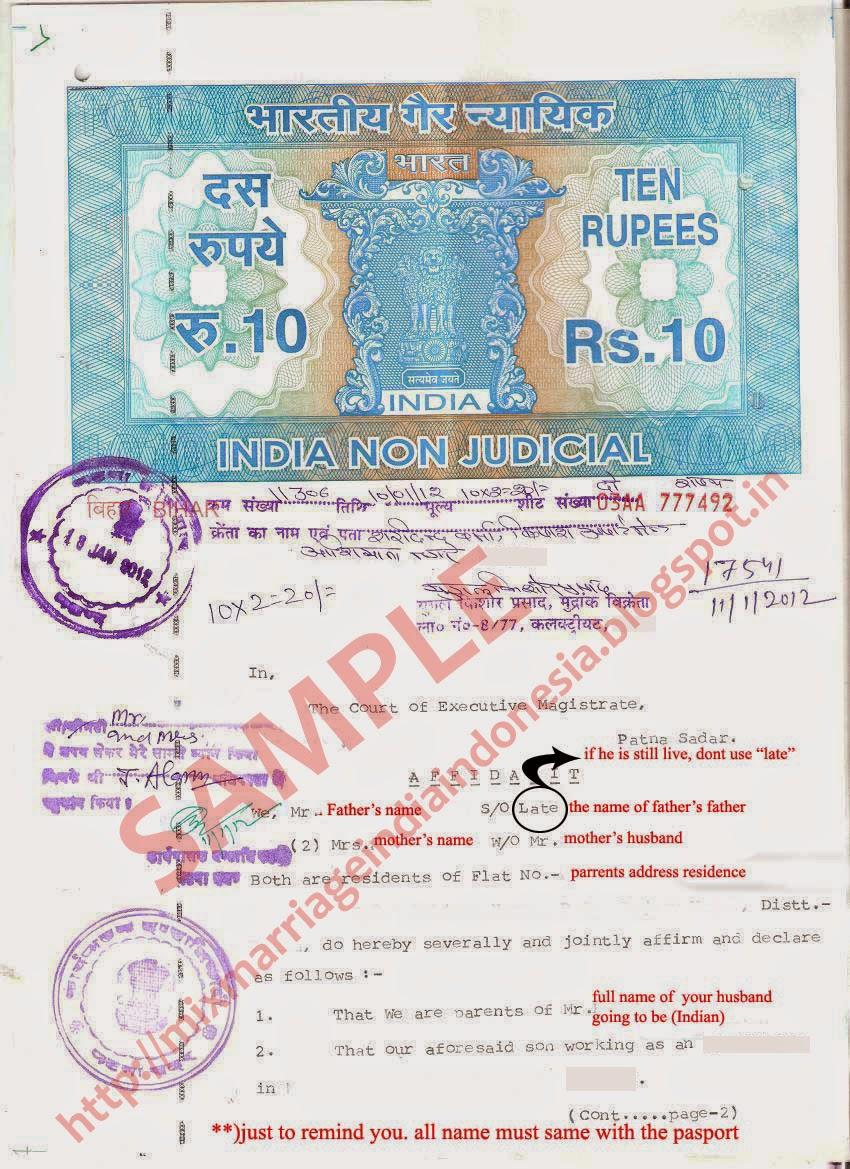 Indonesia india mixed marriage community 2015 contoh affidavit page 1 aiddatafo Choice Image