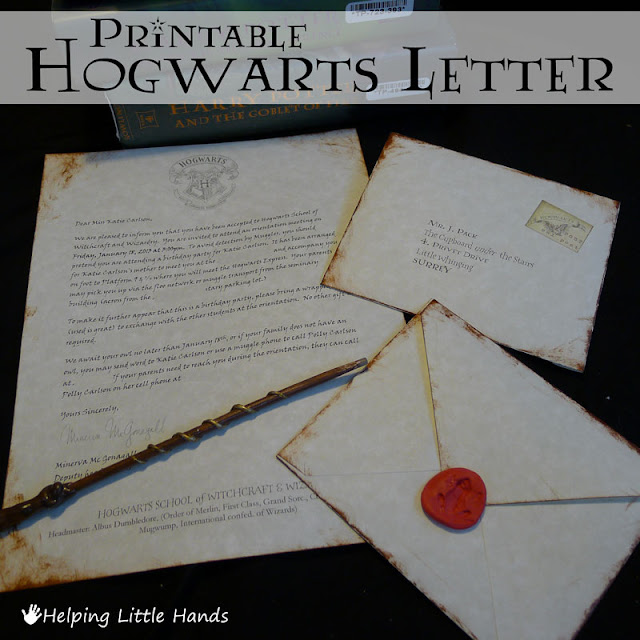 Witty image within hogwarts letter printable