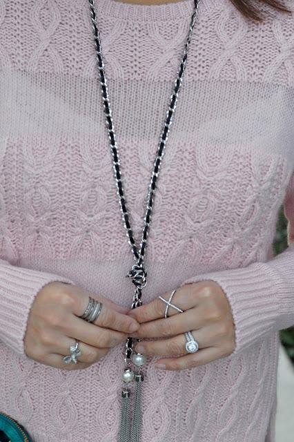 Fashion over 40, Loft Stripe Cable sweater