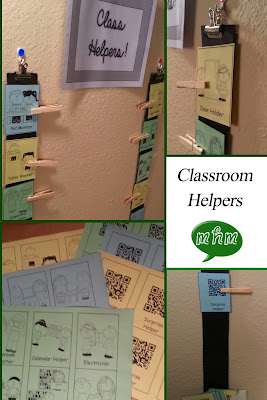Classroom helpers setup by Miss, Hey Miss!