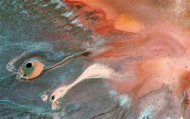 Aerial views of the alien landscapes of Rio Tinto