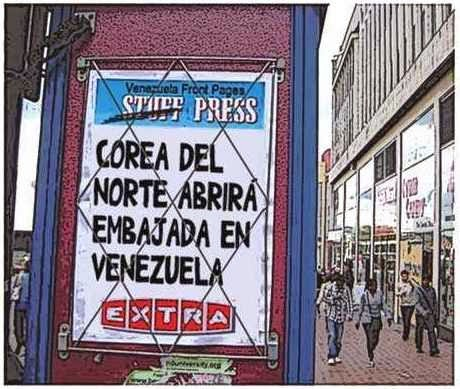 Newsstands versión comic - Corea del Norte embajada en Venezuela