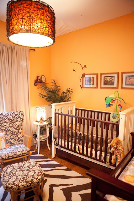 Hazels Orange Safari Nursery Revisited Design Improvised