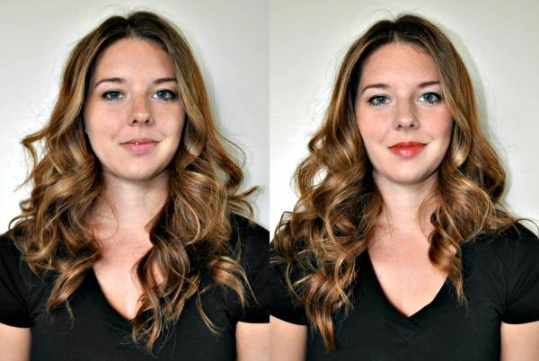 blush before and after. diy natural make up product blush before and after