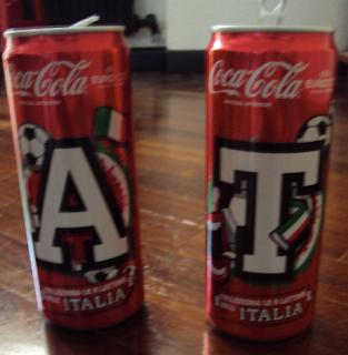 lattine coca cola da collezione europei calcio 2012