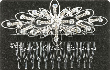 Unfinished Crystal Allure Starburst Hair Comb | Photo credit: Crystal Allure Beaded Jewelry Creations