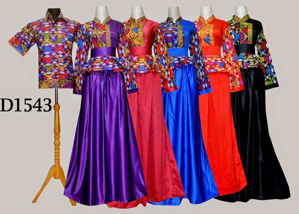 Baju Batik Couple Muslim D15433