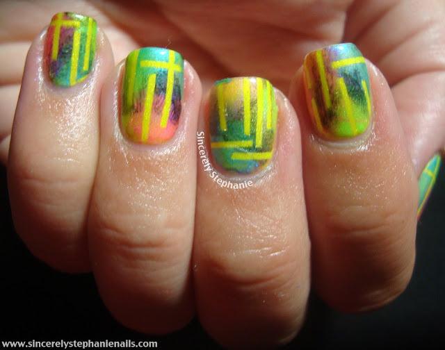 31 day nail art challenge yellow