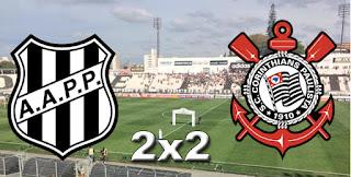 Placar Ponte Preta 2x2 Corinthians