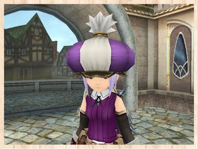 マーケット帽子・紫1