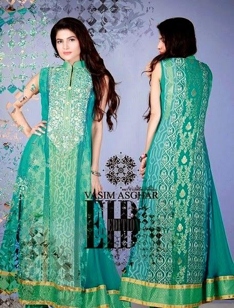 Vasim Asghar Eid Dress Collection 2014