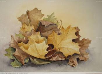 Al llegar el otoño hay recuerdos de sueños vividos que escondidos quedan bajo las hojas......