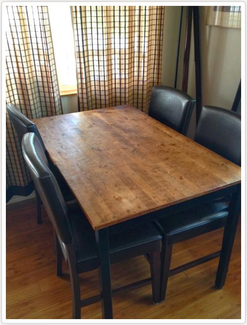 Hemp Oil, Black Chalk & Milk Paint Dining Table, Dream Table, Wood Dining Table, Table Conversion, Kauai Habitat for Humanity, Kauai Ross Dress for Less, Painting Your Kitchen Table