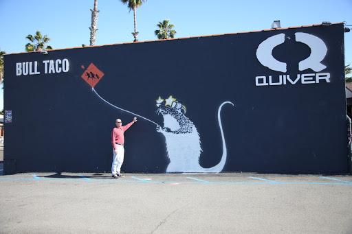 Oceanside rat mural is not a banksy for Banksy rat mural