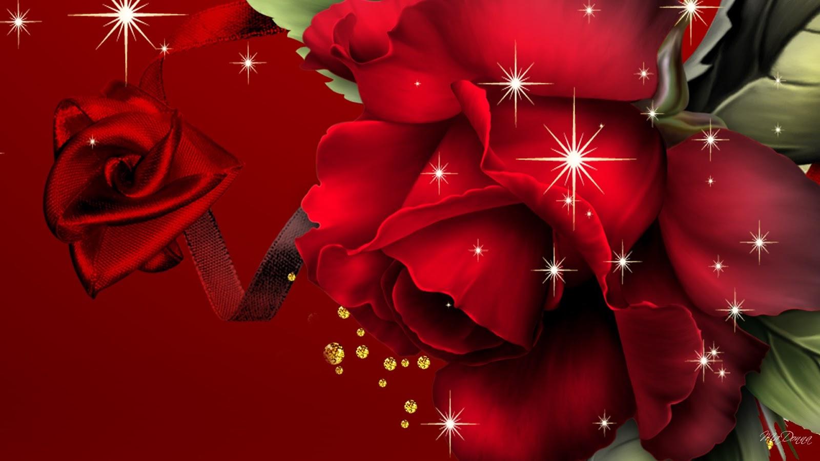 Red Rose 3D Wallpaper HD