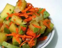Abobrinha e Cenoura ao Curry (vegana)