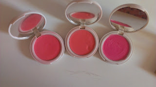 Topshop Cream Blushes in Prime Time, Head over Heels and Flush