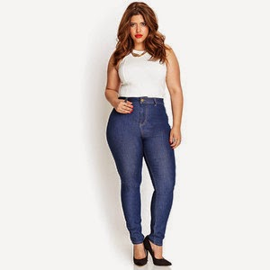 HIGH WAISTED JEANS PLUS SIZE