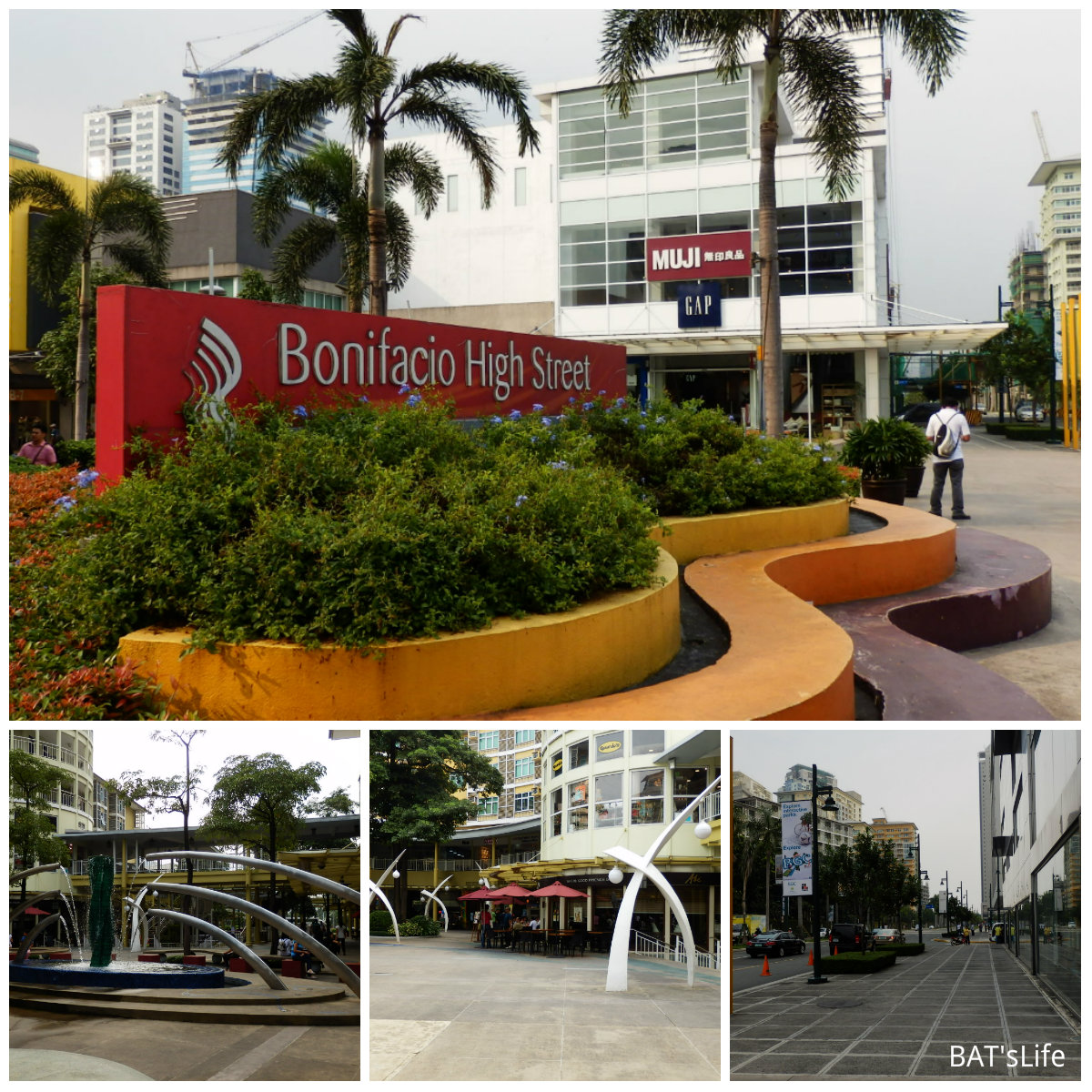 bonifacio high street Bonifacio high street is not just the place for food and shopping enthusiasts it's ambience is so cultural, too you can bring your book.