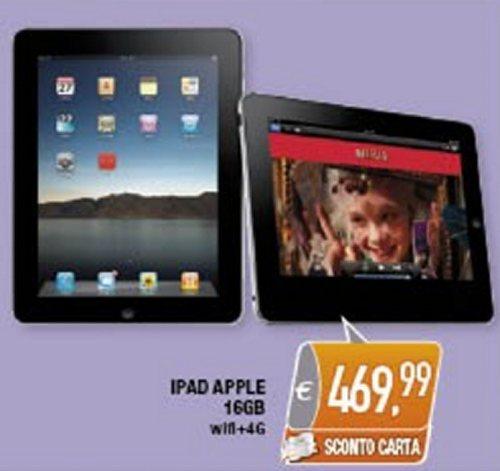 Sconto di quasi 80 euro sul tablet di terza generazione nuovo iPad di Apple sul volantino Oasi