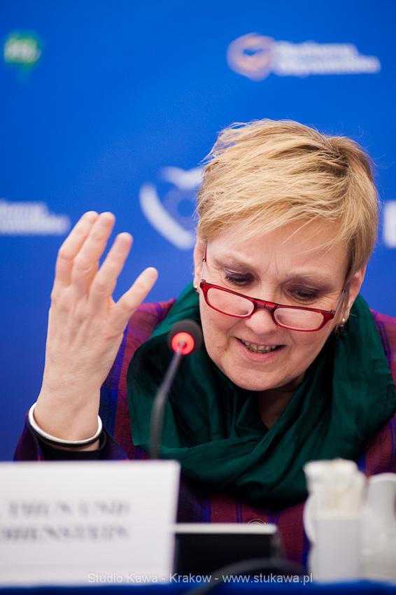 Konferencja EPP/EPL w Krakowie. Event, obsluga fotograficzna, nz. Róża Thun