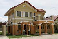 modelo de casa de dos pisos con columnas