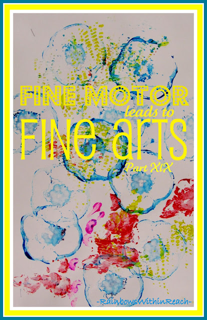 photo of: Fine Motor leads to Fine Arts (continuing series: Part 19) Printmaking image