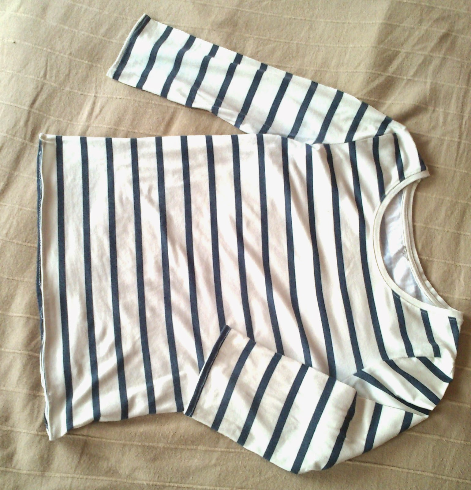 Striped Top Refashion