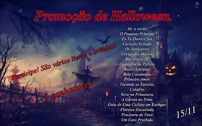 Promoção, Halloween, sorteio, 5, kits, livros