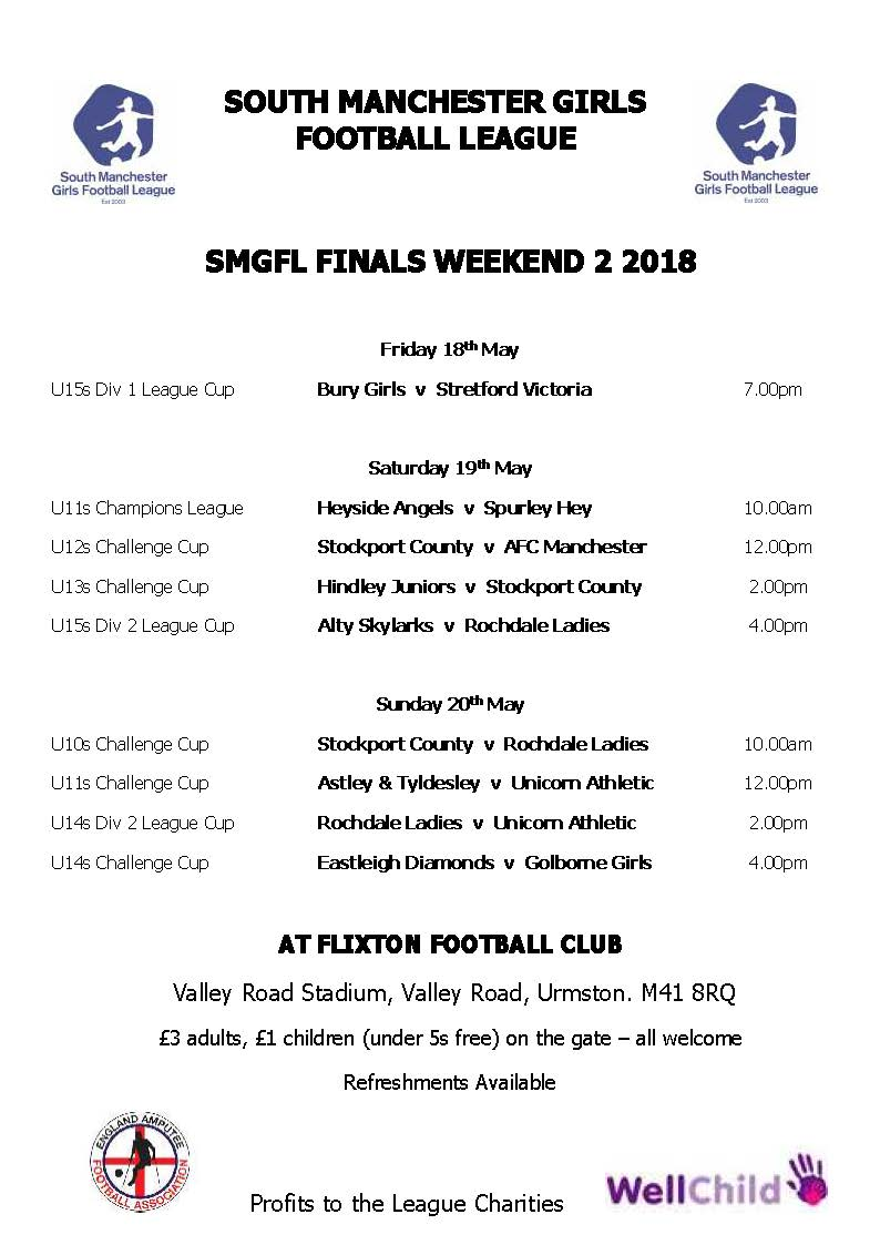 This Weekend's Finals