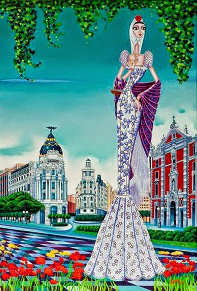 cuadros-modernos-de-mujeres-españolas
